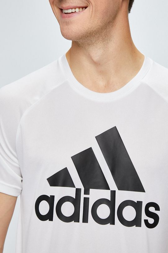 biela adidas Performance - Pánske tričko
