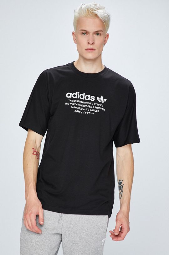 fekete adidas Originals - T-shirt Férfi