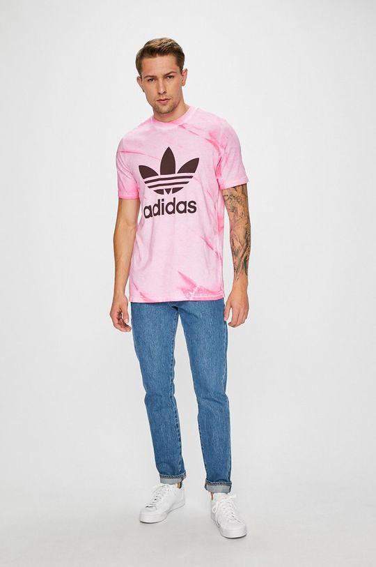 ružová adidas Originals - Pánske tričko Pánsky