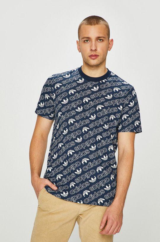 тъмносин adidas Originals - Тениска