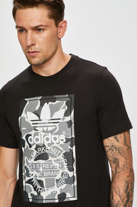 черен adidas Originals - Тениска