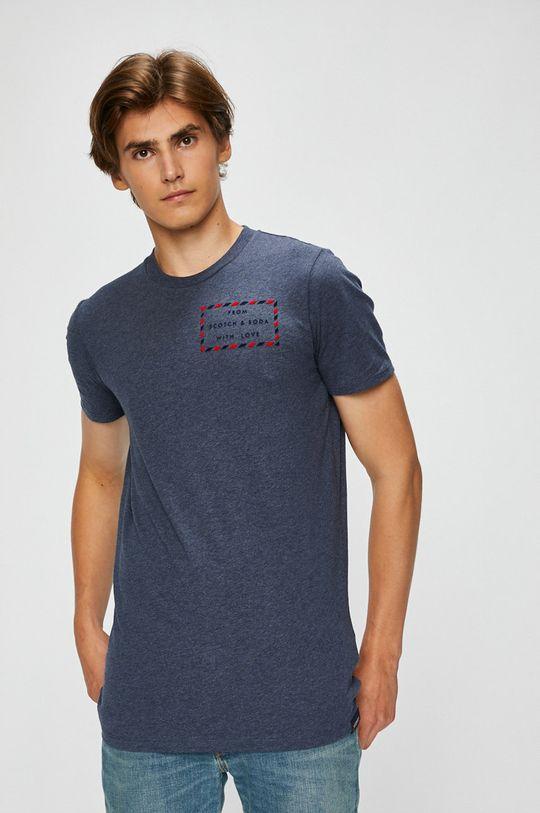 modrá Scotch & Soda - Pánske tričko Pánsky
