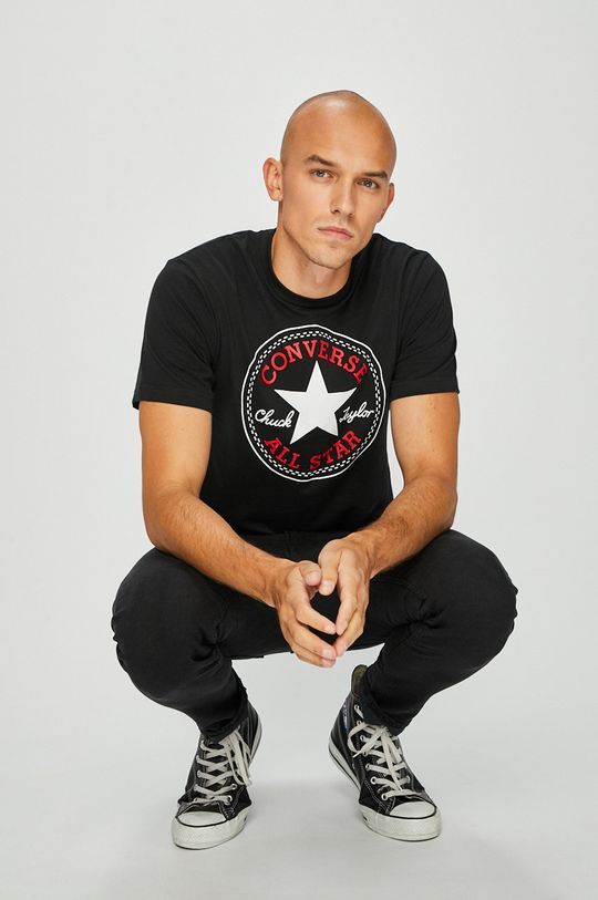 czarny Converse - T-shirt Męski