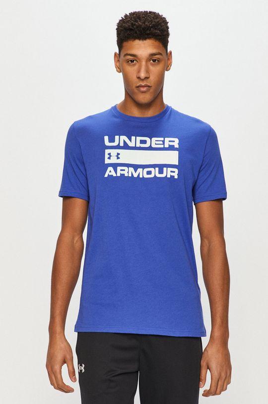niebieski Under Armour - T-shirt Męski