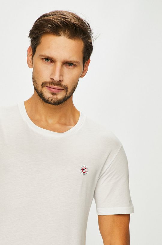 biały John Frank - T-shirt