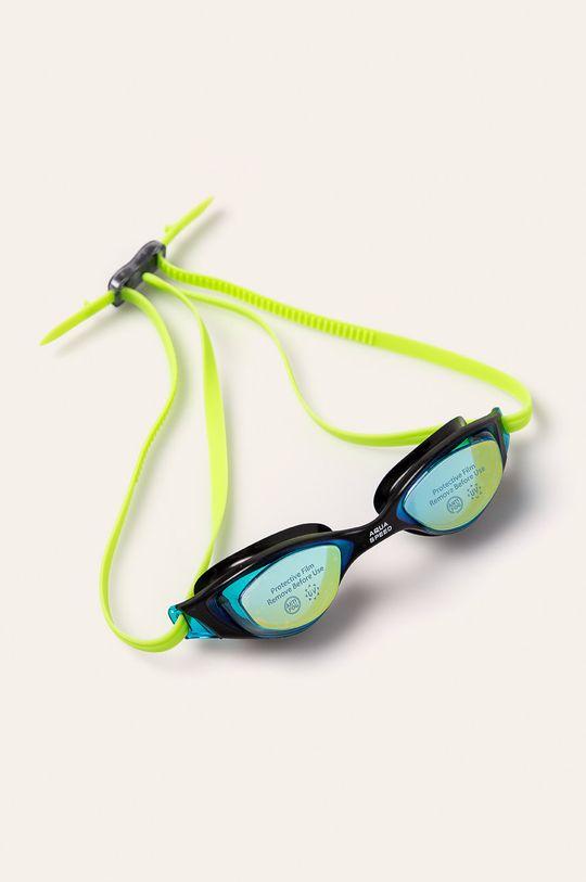 żółto - zielony Aqua Speed - Okulary pływackie Damski