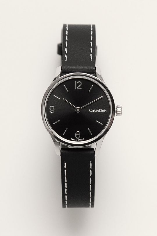 czarny Calvin Klein - Zegarek K7V231C1 Damski