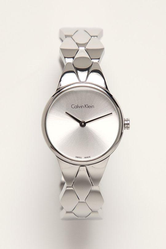 srebrny Calvin Klein - Zegarek K6E23146 Damski
