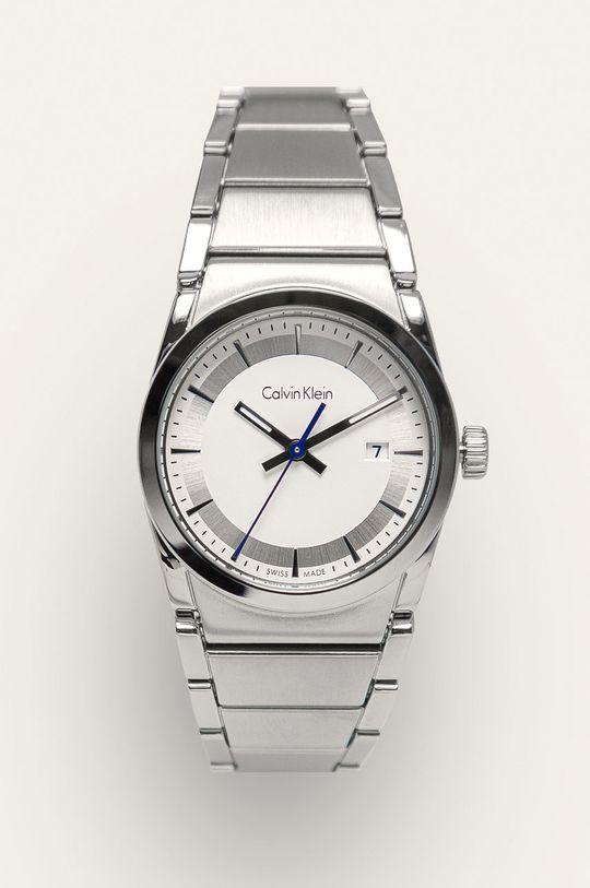 srebrny Calvin Klein - Zegarek K6K33146 Damski