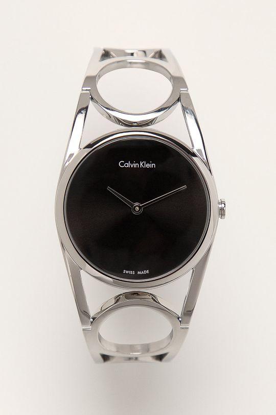 srebrny Calvin Klein - Zegarek K5U2M141 Damski