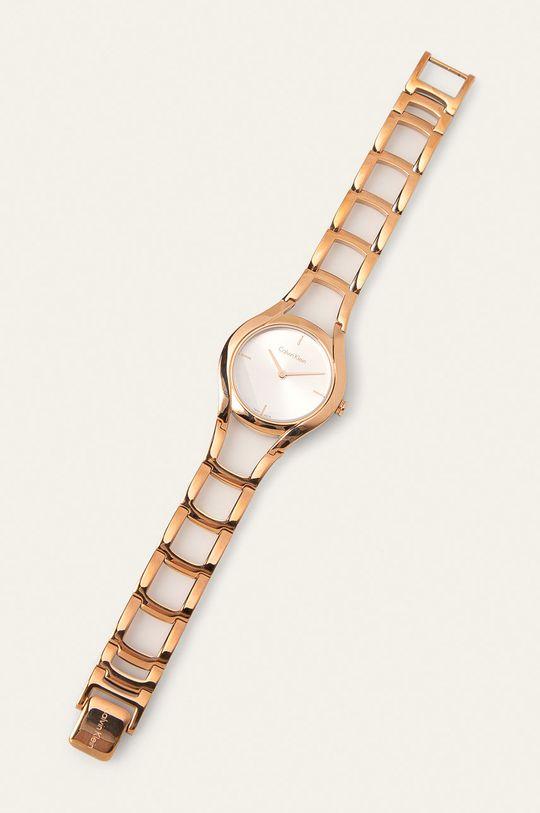 złoty Calvin Klein - Zegarek K6R23626 Damski