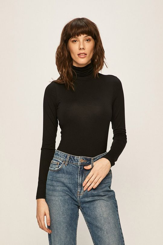 černá Only - Tričko s dlouhým rukávem Dámský