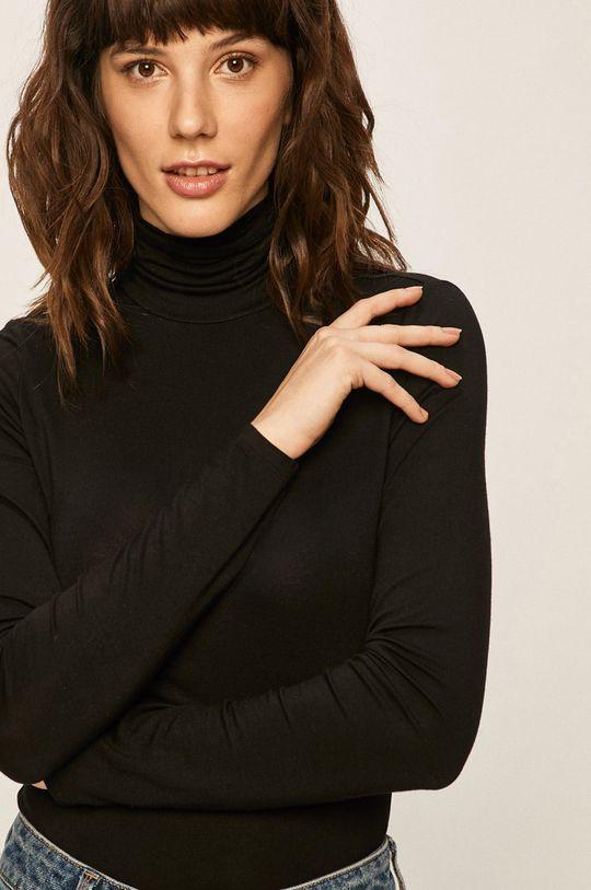 černá Only - Tričko s dlouhým rukávem