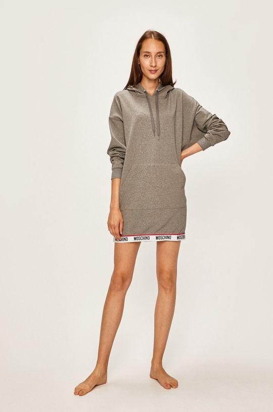 Moschino Underwear - Bluza pijama gri