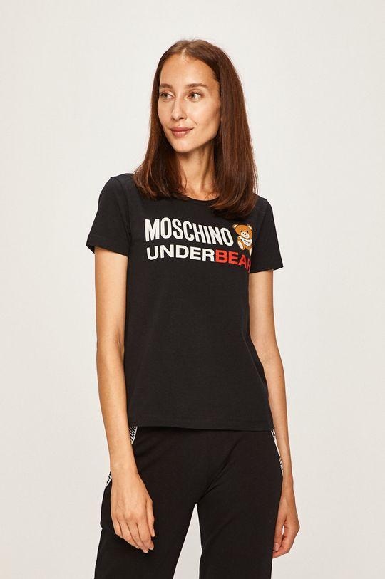 čierna Moschino Underwear - Pyžamové tričko Dámsky