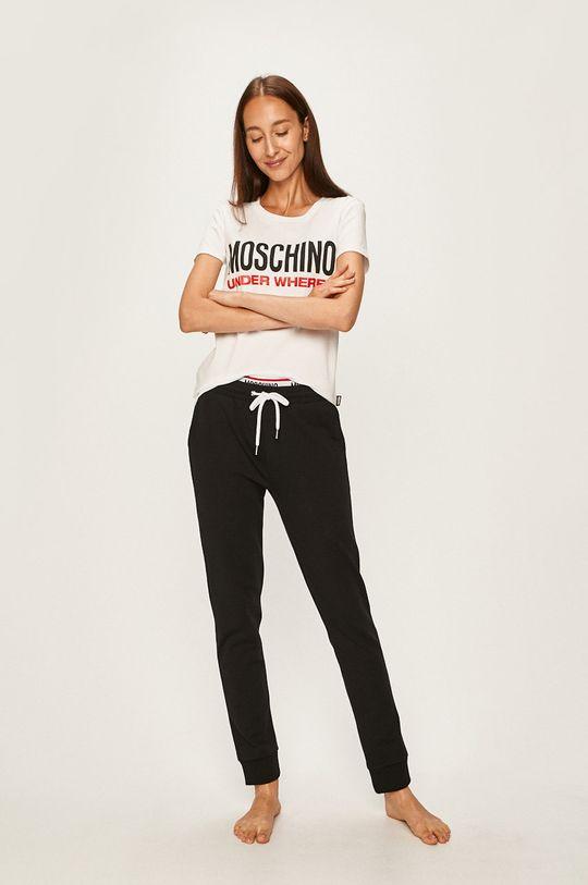 Moschino Underwear - Tricou de pijama alb