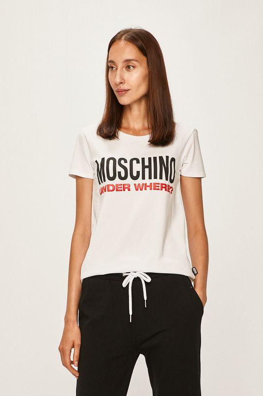 alb Moschino Underwear - Tricou de pijama