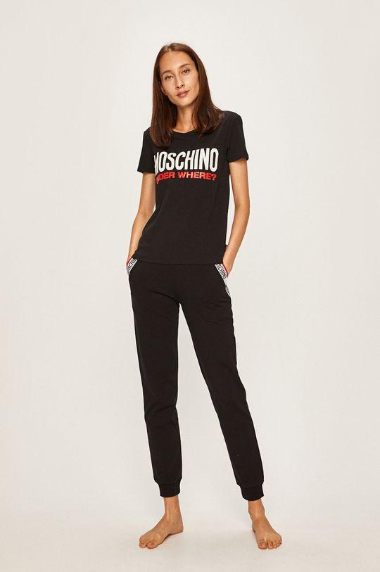 Moschino Underwear - Tricou de pijama negru