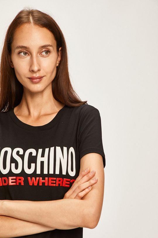 čierna Moschino Underwear - Pyžamové tričko