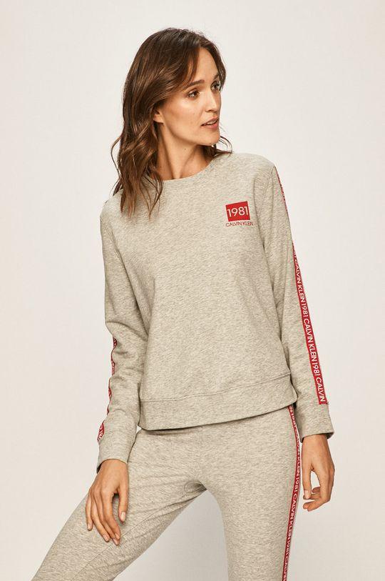 světle šedá Calvin Klein Underwear - Pyžamová mikina Dámský