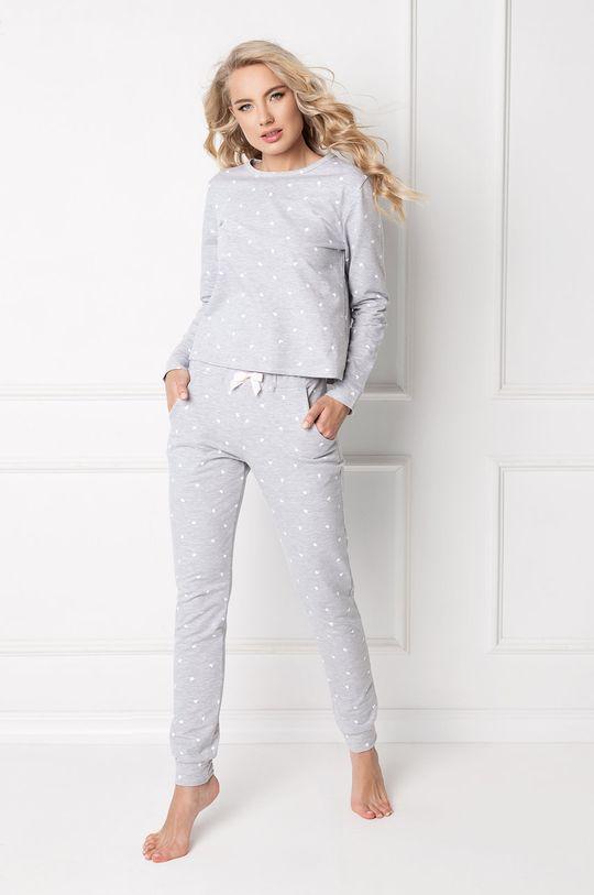 jasny szary Aruelle - Piżama Hearty Damski
