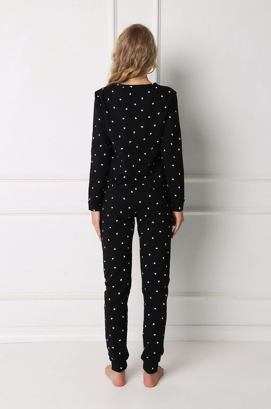 Aruelle - Pyžamo Hearty černá