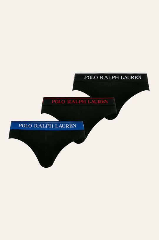 čierna Polo Ralph Lauren - Slipy (3-pak) Pánsky