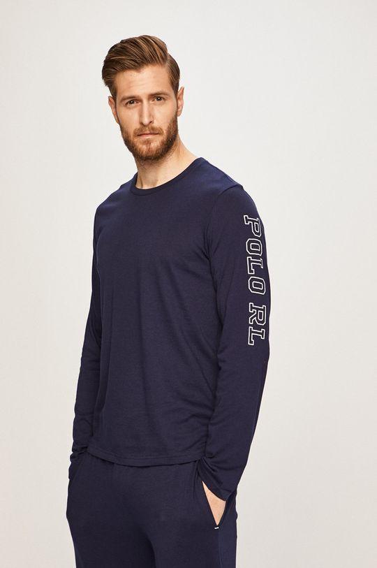 námořnická modř Polo Ralph Lauren - Pyžamové tričko s dlouhým rukávem Pánský