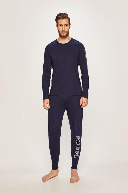 Polo Ralph Lauren - Pyžamové tričko s dlouhým rukávem námořnická modř
