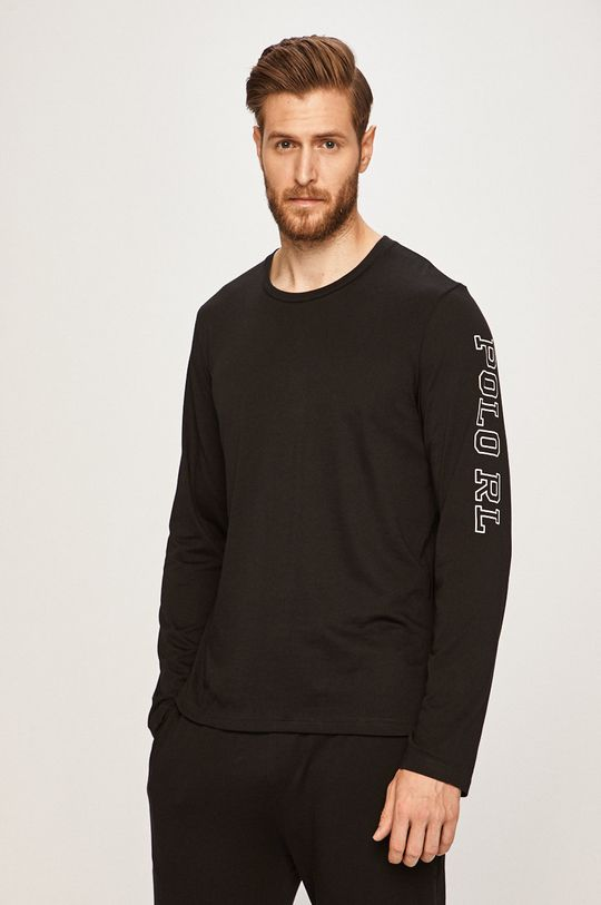 černá Polo Ralph Lauren - Pyžamové tričko s dlouhým rukávem Pánský