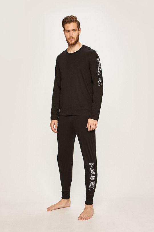 Polo Ralph Lauren - Pyžamové tričko s dlouhým rukávem černá