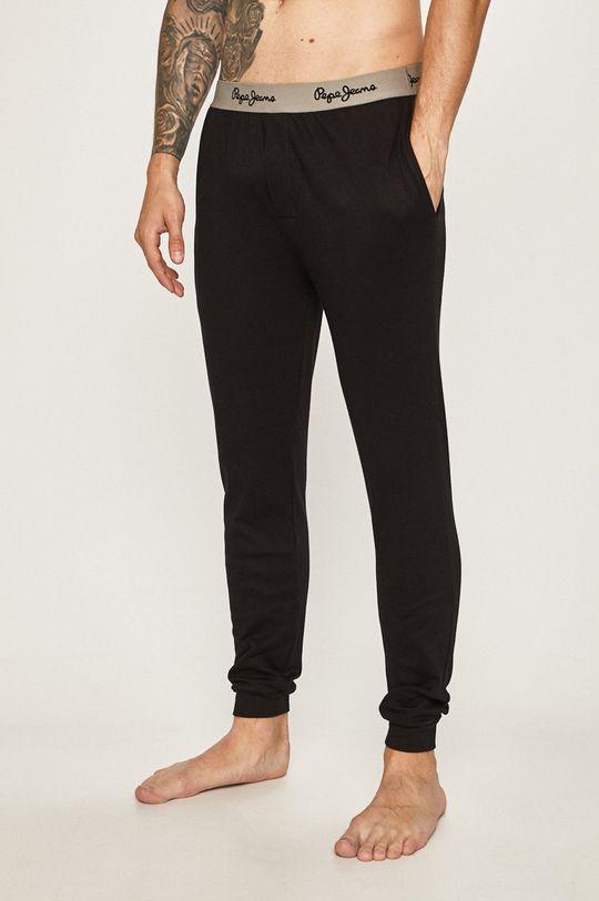 čierna Pepe Jeans - Pyžamové nohavice Pánsky