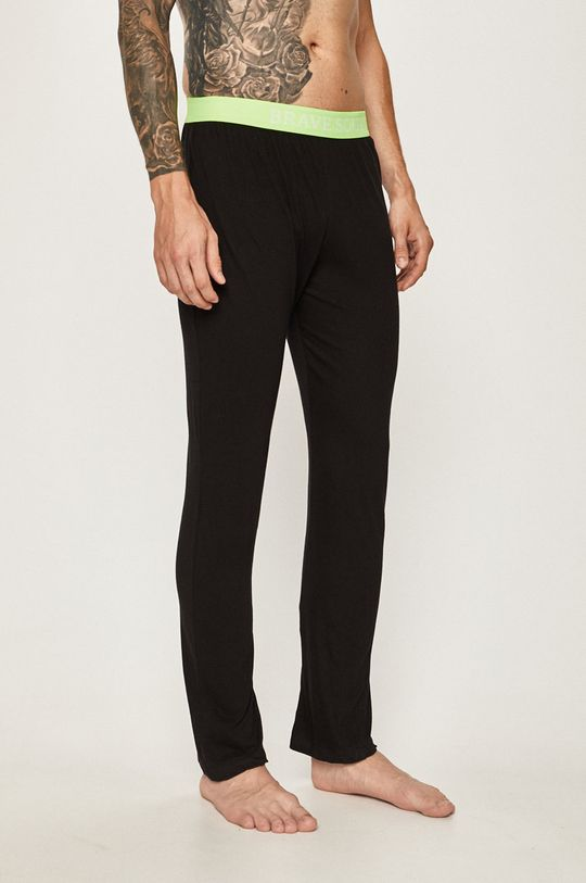 čierna Brave Soul - Pyžamové nohavice Pánsky