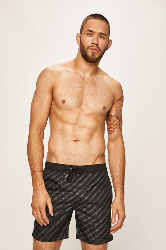 czarny Karl Lagerfeld - Szorty kąpielowe Męski