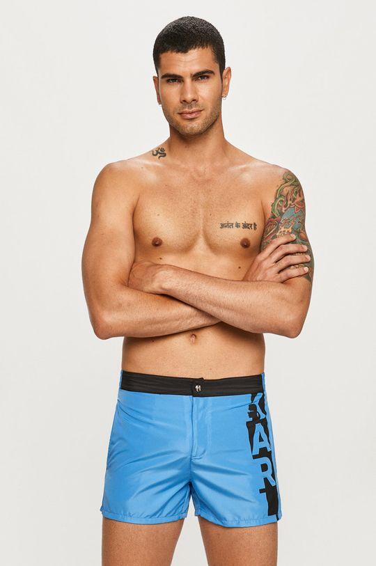 modrá Karl Lagerfeld - Plavkové šortky Pánský