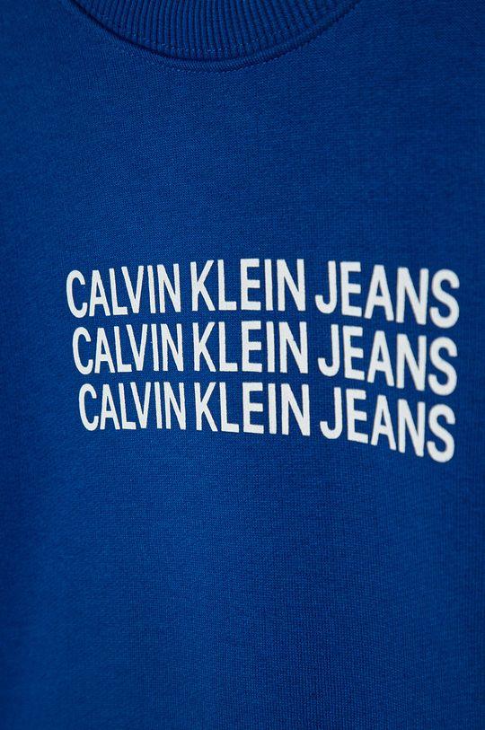 Calvin Klein Jeans - Detská mikina 104-176 cm modrá