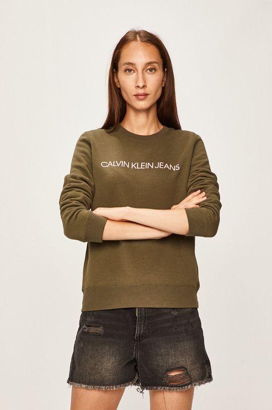 zelená Calvin Klein Jeans - Mikina Dámský