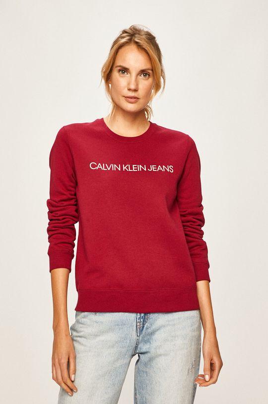 kaštanová Calvin Klein Jeans - Mikina Dámský