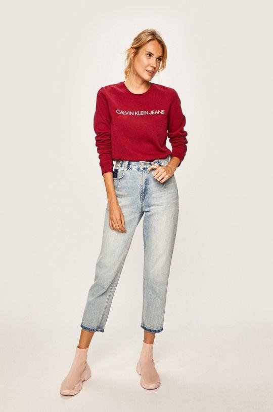 Calvin Klein Jeans - Mikina kaštanová