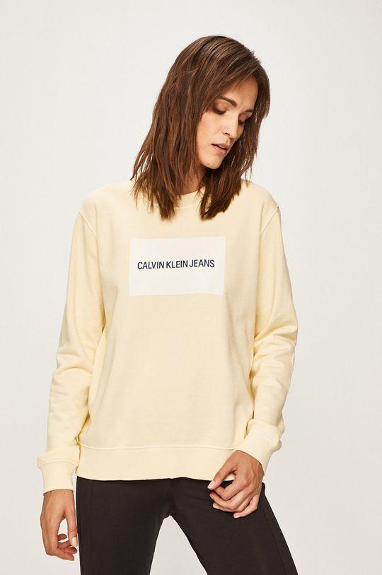 galben deschis Calvin Klein Jeans - Bluza De femei