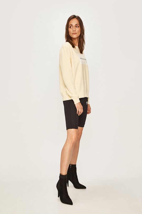 Calvin Klein Jeans - Bluza galben deschis