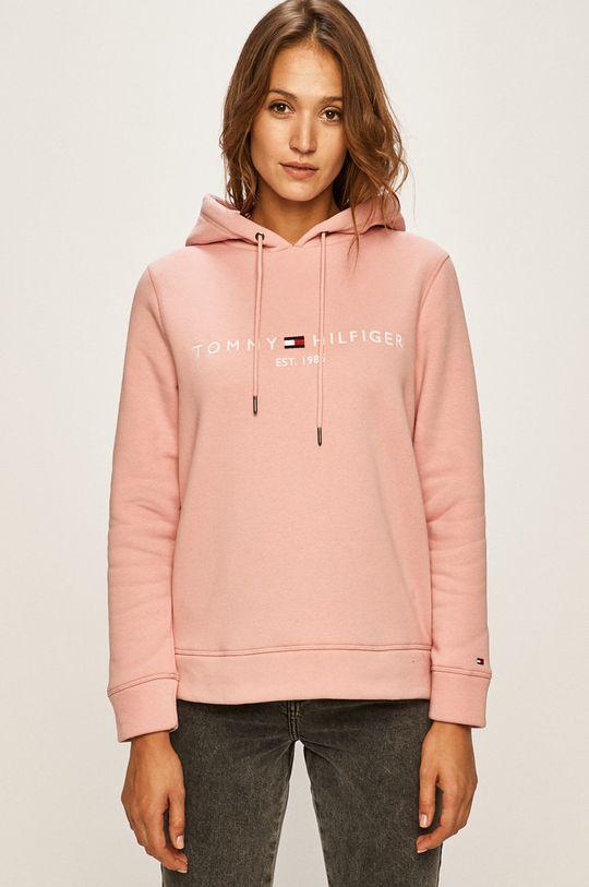 pastelowy różowy Tommy Hilfiger - Bluza