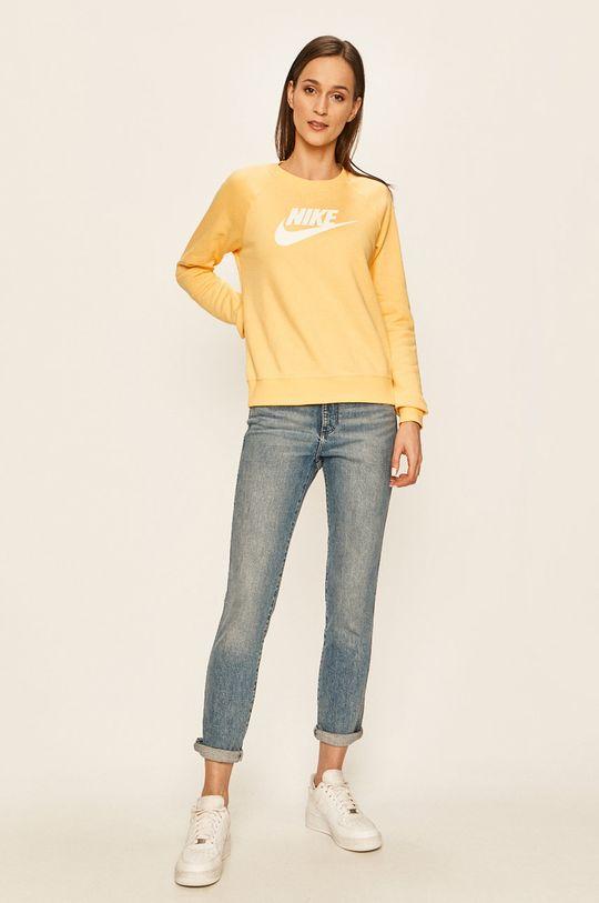 Nike Sportswear - Mikina žlutá