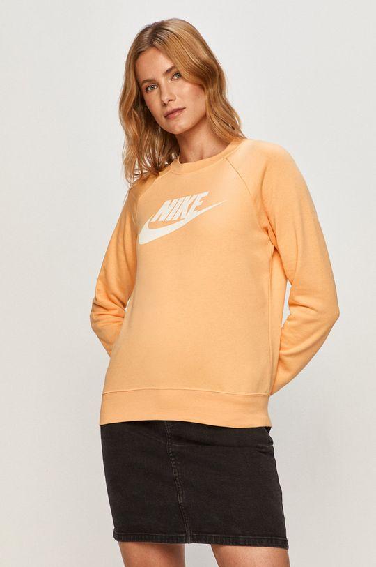 svetlo oranžová Nike Sportswear - Mikina Dámsky