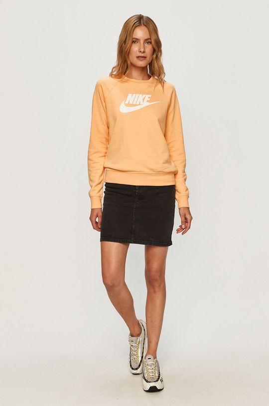 Nike Sportswear - Mikina svetlo oranžová