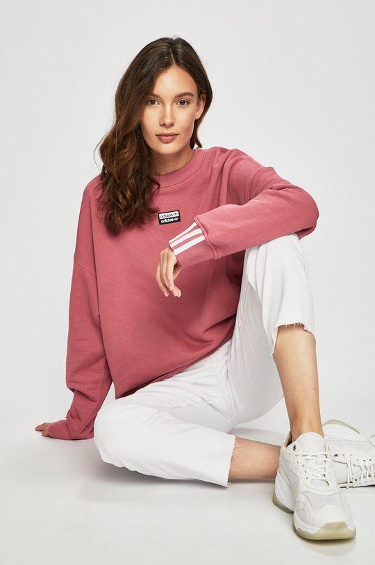 fialovo-růžová adidas Originals - Mikina Dámský