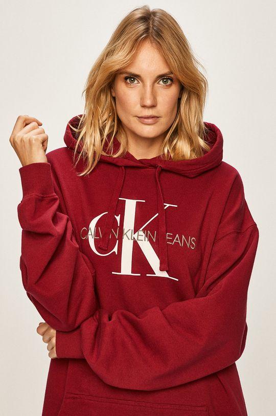 gaštanová Calvin Klein Jeans - Mikina Dámsky