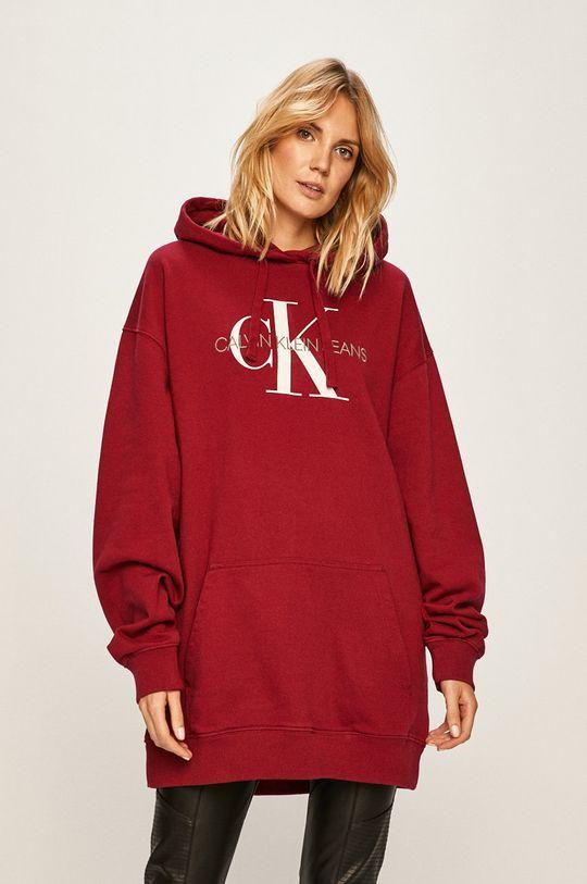 gaštanová Calvin Klein Jeans - Mikina