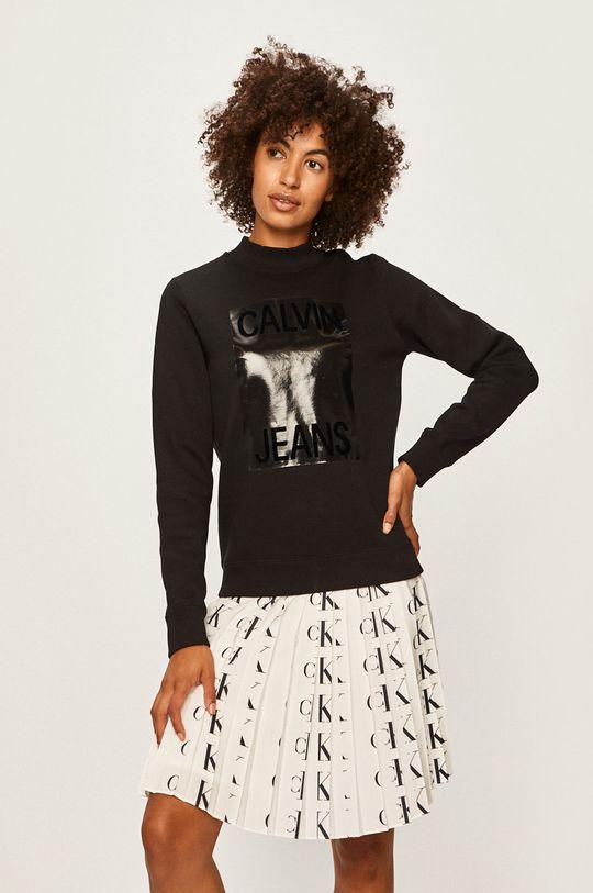 čierna Calvin Klein Jeans - Mikina Dámsky