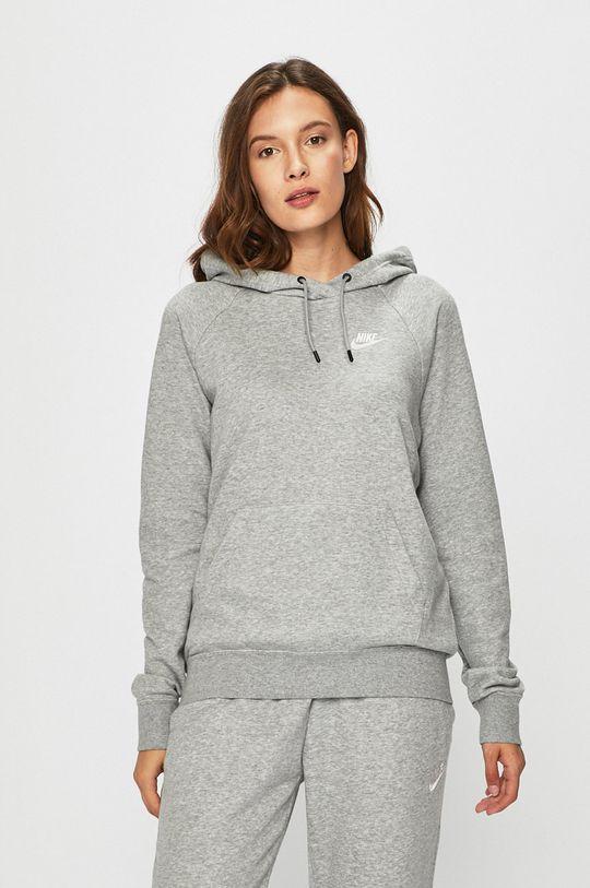 šedá Nike Sportswear - Mikina Dámský